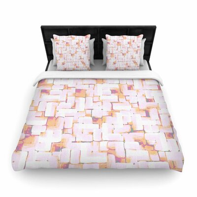 Rachel Watson Cobble Woven Duvet Cover Size: King