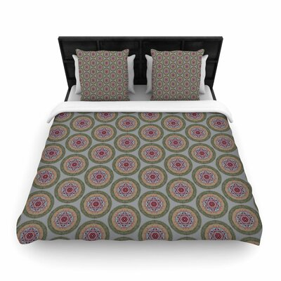 Rachel Watson Lucrezia Borgia Brocade Woven Duvet Cover Color: Purple/Green, Size: Twin