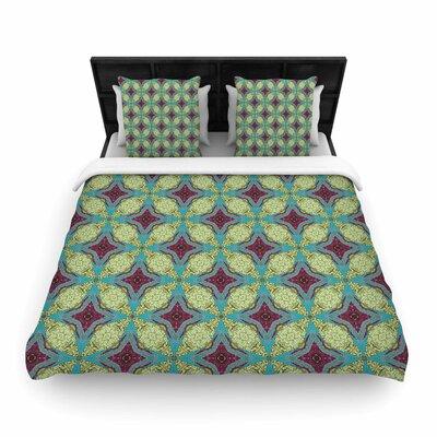 Rachel Watson 'Brocade Foulard' Plum Woven Duvet Cover
