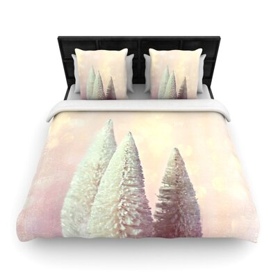 Sylvia Cook Bottle Brush Trees Woven Duvet Cover Size: Full/Queen