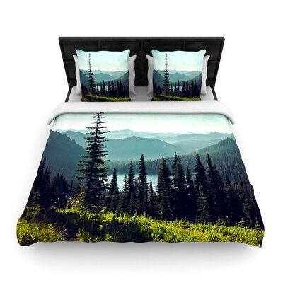 Sylvia Cook Discover Your Northwest Landscape Woven Duvet Cover Size: King