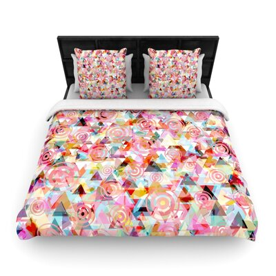 Suzanne Carter Geo Woven Duvet Cover Size: Full/Queen