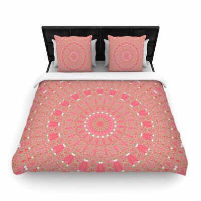 Sylvia Cook Boho Hearts Woven Duvet Cover Size: King