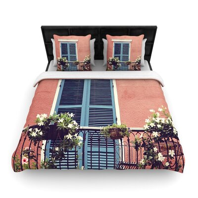 Sylvia Cook New Orleans Balcony Woven Duvet Cover Size: Twin