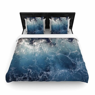 Suzanne Carter Sea Spray Ocean Woven Duvet Cover Size: King