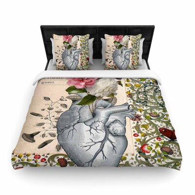Suzanne Carter Her Heart Is a Garden Woven Duvet Cover Size: Full/Queen