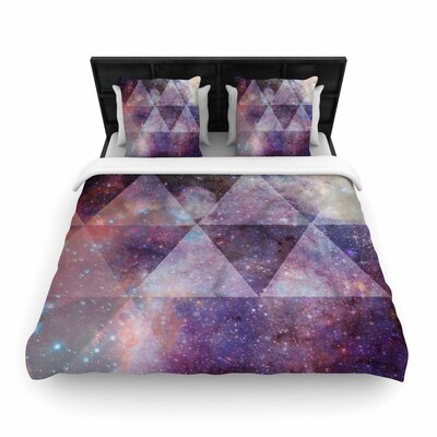 Suzanne Carter Geometric Stars Woven Duvet Cover Size: King