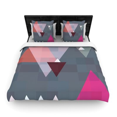 Suzanne Carter Geo II Geometric Woven Duvet Cover Size: King