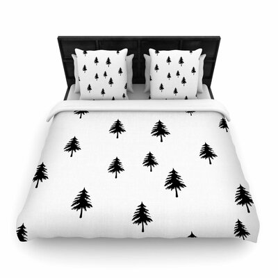 Suzanne Carter Pine Tree Woven Duvet Cover Size: King