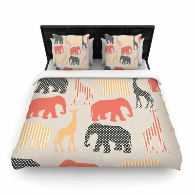 Suzanne Carter Zoo Woven Duvet Cover Size: Twin
