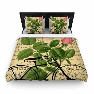 Suzanne Carter Vintage Cycle Floral Woven Duvet Cover Size: King