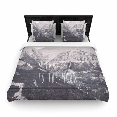 Suzanne Carter Love You to the Moon Woven Duvet Cover Size: Twin