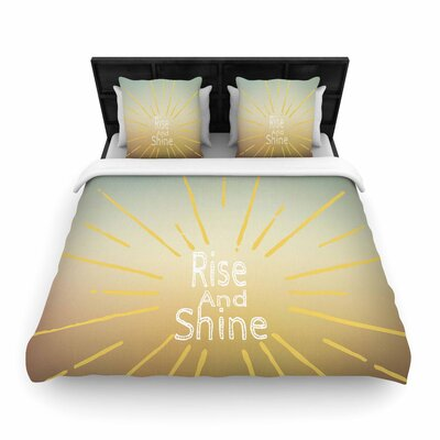 Suzanne Carter Rise and Shine Woven Duvet Cover Size: King