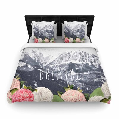 Suzanne Carter Breathe Floral Landscape Woven Duvet Cover Size: King