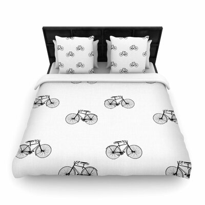 Suzanne Carter Vintage Wheels Woven Duvet Cover Size: Full/Queen
