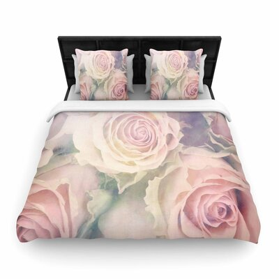 Suzanne Carter Faded Beauty Blush Floral Woven Duvet Cover Size: Twin