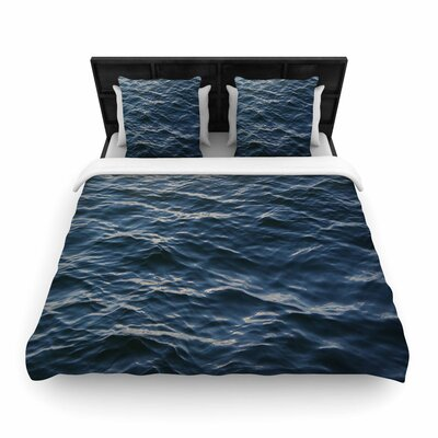 Suzanne Carter Deep Water Nautical Woven Duvet Cover Size: Twin