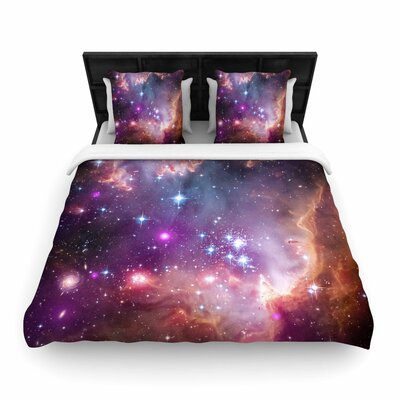 Suzanne Carter Cosmic Cloud Celestial Woven Duvet Cover Size: Full/Queen