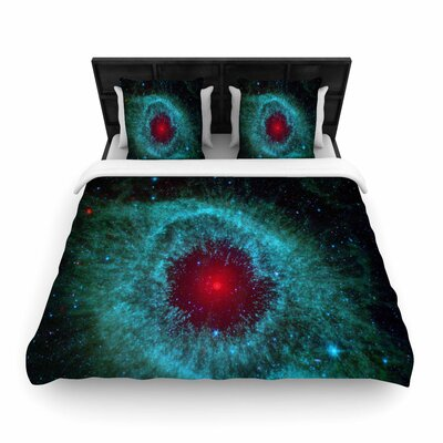 Suzanne Carter Helix Nebula Celestial Woven Duvet Cover Size: King