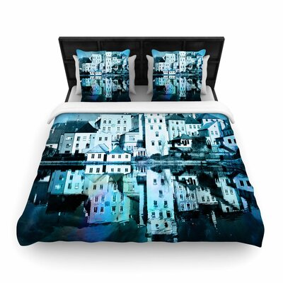 Suzanne Carter Night Sky Woven Duvet Cover Size: King