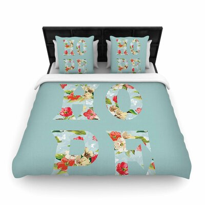 Suzanne Carter Hope Floral Woven Duvet Cover Size: Full/Queen