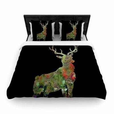 Suzanne Carter Paisley Deer Abstract Woven Duvet Cover Size: Full/Queen