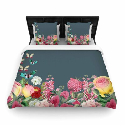 Suzanne Carter Summer Garden 2 Woven Duvet Cover Size: Full/Queen