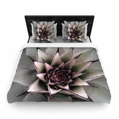 Suzanne Carter Succulent Woven Duvet Cover Size: Twin