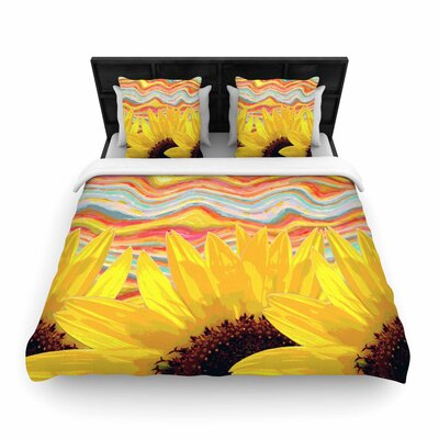 Suzanne Carter Sunflower Dreaming Woven Duvet Cover Size: Full/Queen