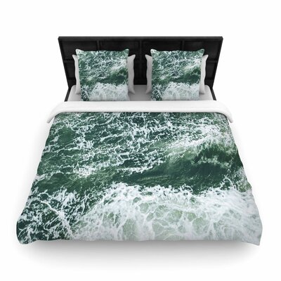 Suzanne Carter Oceans 2 Digital Woven Duvet Cover Size: Full/Queen