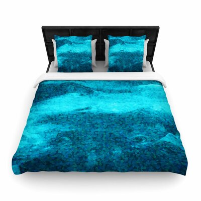 Suzanne Carter Confetti Ocean Digital Woven Duvet Cover Size: King