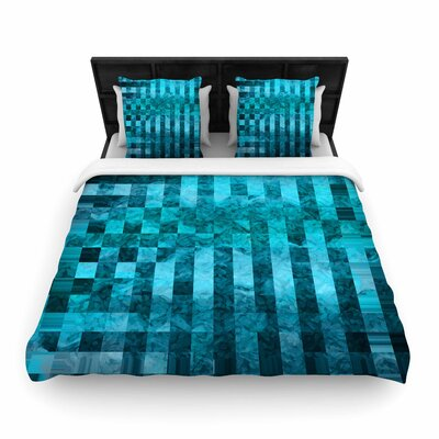 Suzanne Carter Mosaic Ocean Pattern Woven Duvet Cover Size: King