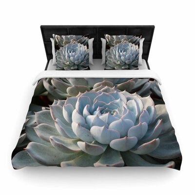 Suzanne Carter Succulent Love Woven Duvet Cover Size: Full/Queen