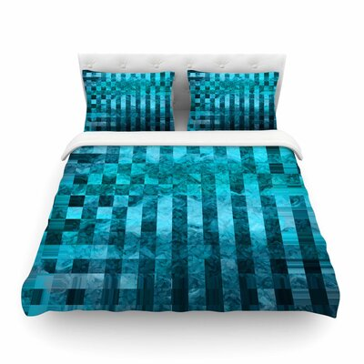 Suzanne Carter Mosaic Ocean Pattern Featherweight Duvet Cover Size: King