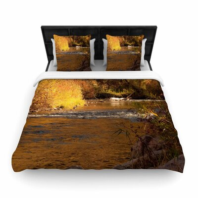 Sylvia Coomes Autumn Stream Woven Duvet Cover Size: Twin