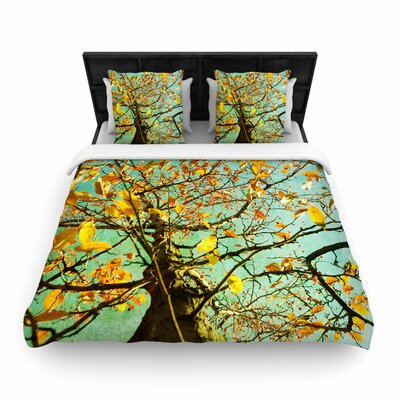 Sylvia Coomes Autumn Tree Woven Duvet Cover Size: King