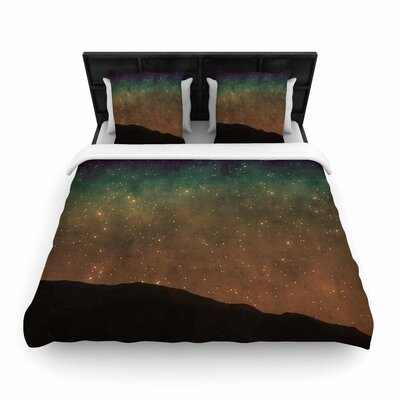 Sylvia Coomes Star Light Woven Duvet Cover Size: King