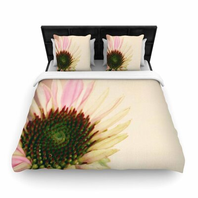 Sylvia Coomes and Flower Blush Floral Woven Duvet Cover Size: King