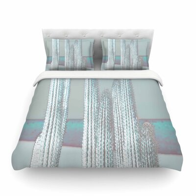 Suzanne Carter Cactus Digital Featherweight Duvet Cover Color: Blue, Size: King