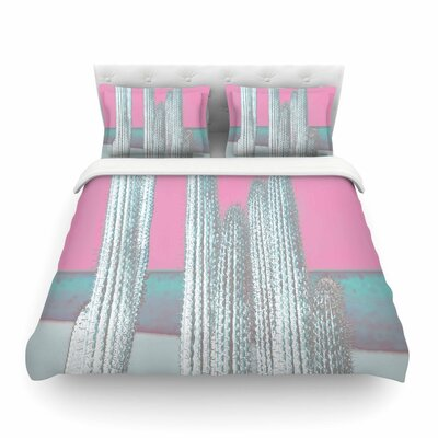 Suzanne Carter Cactus Digital Featherweight Duvet Cover Size: Twin, Color: Pink