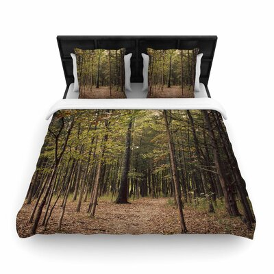 Sylvia Coomes Forest Trees Woven Duvet Cover Size: King