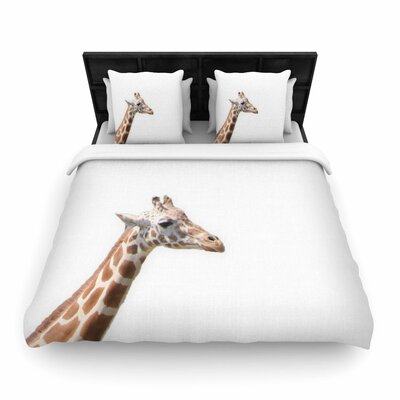Sylvia Coomes Giraffe Animals Photography Woven Duvet Cover Size: Twin