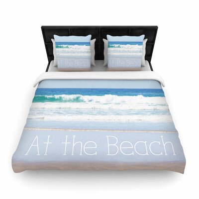 Sylvia Coomes Life Is Better At the Beach Woven Duvet Cover Size: King