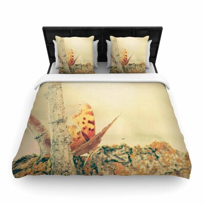 Sylvia Coomes Monarch Butterfly Photography Nature Woven Duvet Cover Size: Full/Queen