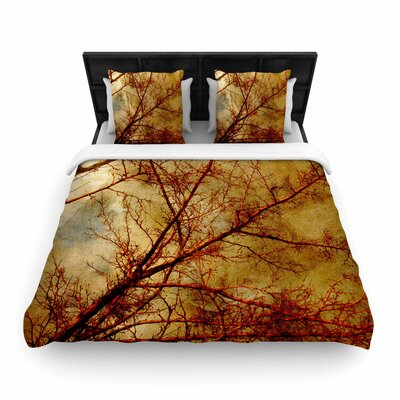Sylvia Coomes Gothic Tree Nature Woven Duvet Cover Size: King