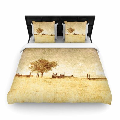 Sylvia Coomes One Tree Woven Duvet Cover Size: Twin