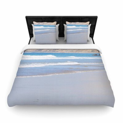 Sylvia Coomes California Beach Woven Duvet Cover Size: Full/Queen