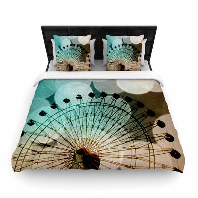 Sylvia Coomes Ferris Wheel Silhouette Woven Duvet Cover Size: Full/Queen