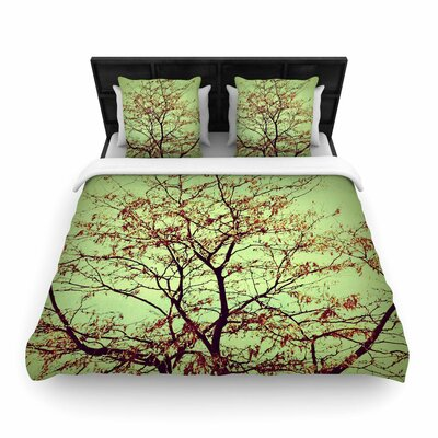 Sylvia Coomes Modern Fall Tree Woven Duvet Cover Size: King