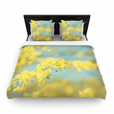 Sylvia Coomes Blooms 2 Woven Duvet Cover Size: Twin